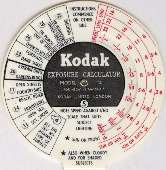 kodak film calculator how to make